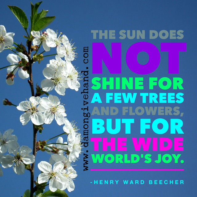 Beecher Quote - Image designed by Damon Givehand