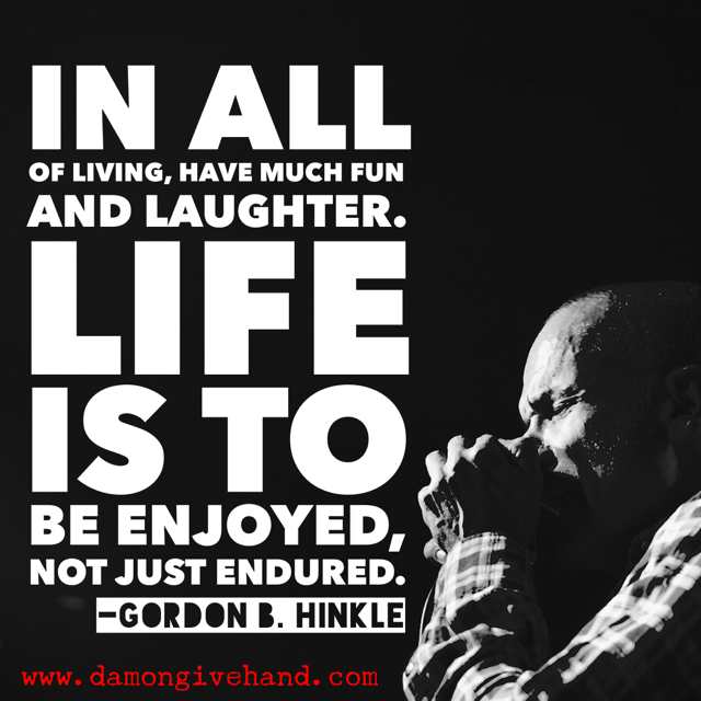 Gordon Hinkle quote -- image designed by damon givehand
